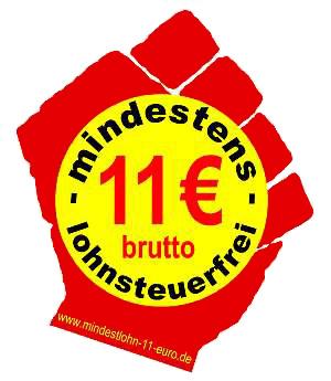 Für 11 Euro steuerfreien Mindestlohn